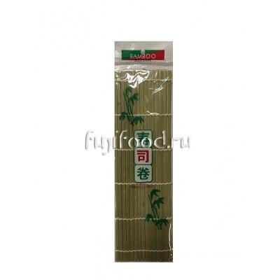 Циновка, коврик для роллов МАКИСО 24*24см  寿司帘
