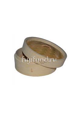 Пароварка бамбуковая для дим сам (Лукошки бамбуковые) 16,5см   竹笼屉