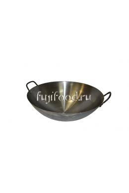 Сковорода Вок круглым дном с двумя ушками 39см  炒勺