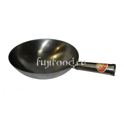 Сковорода Вок круглым дном с одной ручкой 33см  炒勺