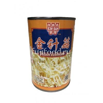 ГРИБЫ ЗОЛОТЫЕ НИТИ (GOLDEN MUSHROOM) КИТАЙ 425г   金针菇