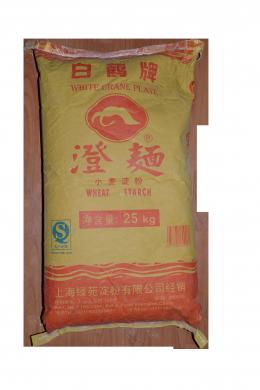 Крахмал пшеничный для ДИМ САМ  25 кг/меш.  白鶴澄面