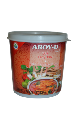 "Паста Карри красная ""AROY-D"" (RED CURRY PASTE) 400г  红咖喱酱"