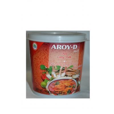 "Паста Карри красная ""AROY-D"" (RED CURRY PASTE) 400г  红咖喱酱"