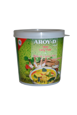 "Паста Карри зеленая ""AROY-D"" (GREEN CURRY PASTE) 400г  绿咖喱酱"
