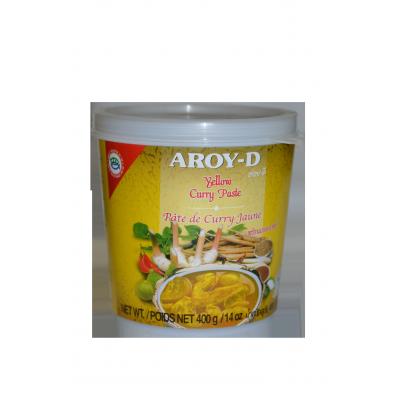 """Паста Карри желтая """"AROY-D"""" (YELLOW CURRY PASTE) 400г  黄咖喱酱"""