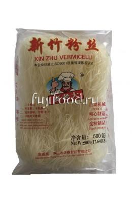Лапша рисовая тонкая РОБОТ СИНГАПУРСКАЯ 500г 麦老大新竹米粉