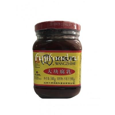 Тофу красный соевый в маринаде 340г  王致和腐乳