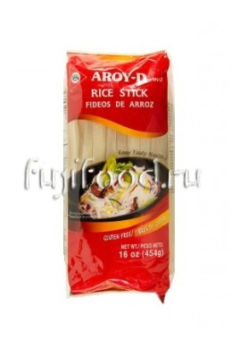 "Лапша рисовая широкая 5мм ""AROY-D"" 454г  沙合粉"
